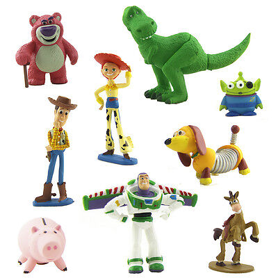 Disney Toy Story 3 Heroes 9Pcs Figurine Figures Cake Topper Play Set In Box