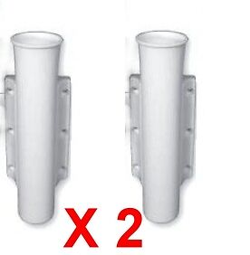 Rod Holders x 2 - Side Mount White