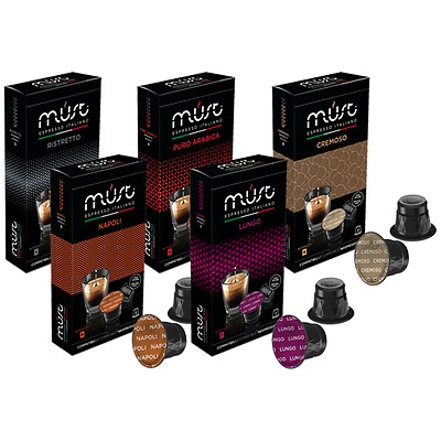Nespresso Compatible Coffee Pods 50 capsule selection