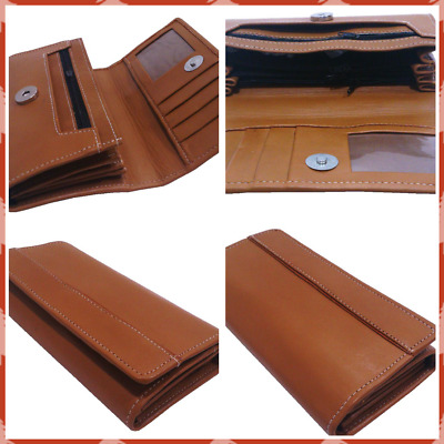 Ladies' Leather Wallet Muscat Brown Cash Credit Card ID holder