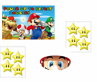 Super Mario Childrens Party Game - Like Pin Tail on Donkey Childs Birthday Party
