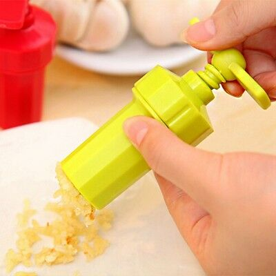 Plastic Garlic Press Crusher Masher Home Kitchen Slicer Squeezer Cleaning Tool