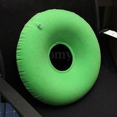 Inflatable Rubber Ring Round Cushion Hemorrhoid Pillow Medical Donut Seat Green