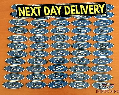 Genuine Ford Steering Wheel Centre Badge Alloy Type Light Blue Unused