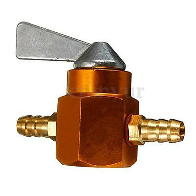 UNIVERSAL 6MM MOTORCYCLE DIRT PIT BIKE IN LINE PETROL ONOFF FUEL TAP SWITCH gold