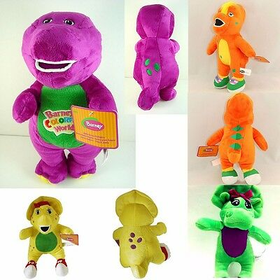 New 5 kinds Plush Soft Toy Doll Barney The Dinosaur Sing I LOVE YOU Song 7-11''