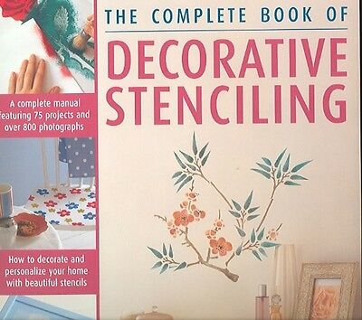 The Complete Book of Decorative Stencilling by Sacha Cohen Hardcover Book