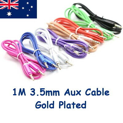 1M AUX CORD Male to Male 3.5mm Audio Cable for iPhone iPod MP3 iPad Android HQ