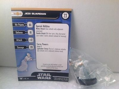 Star Wars Champions of the Force 03/60 Jedi Guardian  (U) Miniature