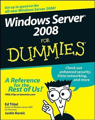 Windows Server 2008 for Dummies by Ed Tittel Paperback Book (English)