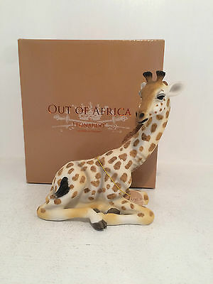 Out of Africa by Sitting Giraffe Figurine Ornament Beautiful *BRAND NEW IN BOX*