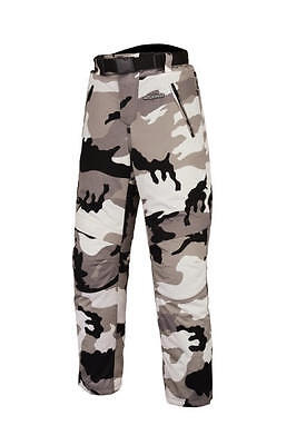 New Army Black Grey Camouflage Cordura Armoured Waterproof Motorcycle  Trousers