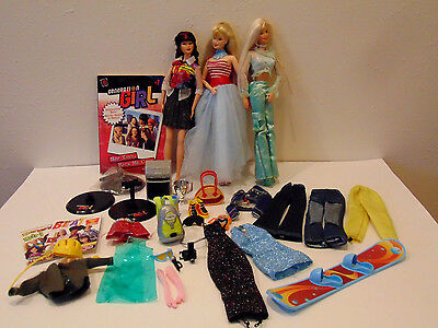 Lot 3 Generation Girl Barbie Dolls & Clothes Books & Accessories