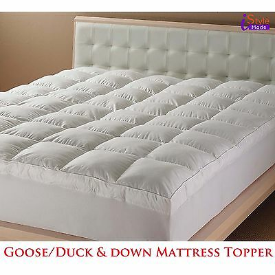 New Luxury Hotel Quality Goose Duck Feather & Down Mattress Topper All Sizes