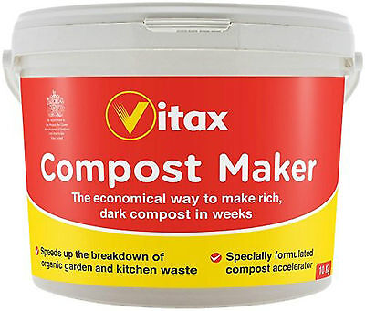 Vitax 10Kg Dark Compost Maker Formulated Accelerator for Organic Garden