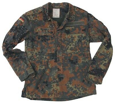 German Flecktarn Camo Jacket - Used Genuine German Army Surplus - Various Sizes