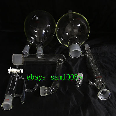 Essential oil steam distillation kit,Allihn Condenser,All Glassware,New Lab,Chem