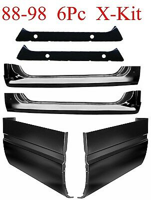 88 98 6Pc Extended Cab, Extended Rocker, Inner Rocker Set, Chevy GMC Truck 1.2MM