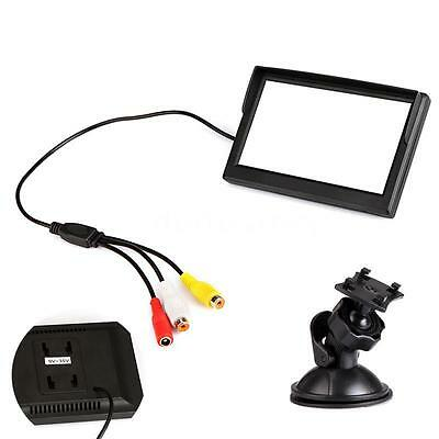 """For Reverse Camera DVD VCR 5"""" Digital TFT LCD Car Rearview Monitor UK C0F7"""