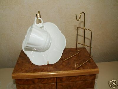 4 Cup And Saucer  Display Stands Gold