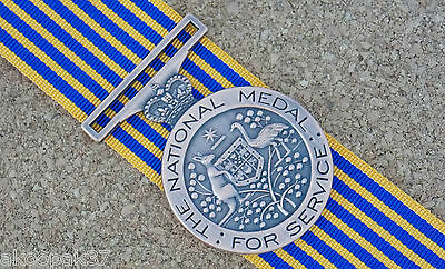 National Medal With 15Cm  Ribbon Excellent Reproduction Police