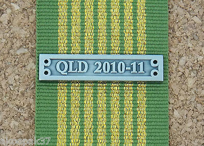 Queensland 2010 - 11 (Floods) Clasp For National Emergency Medal Reproduction