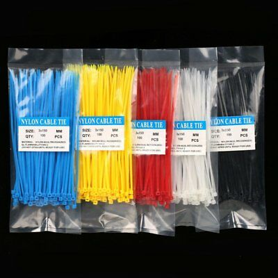 100Pcs 3X150MM Self-Locking  PA66 Wire Cable Zip.cable ties SGS Certificate