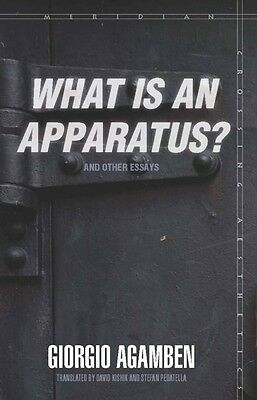 What Is an Apparatus? and Other Essays by Giorgio Agamben Paperback Book (Englis