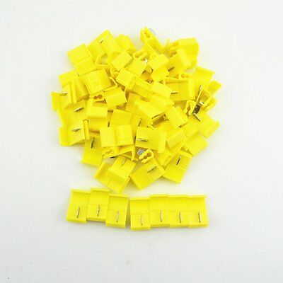 New 50Pcs Wire connector Electrica cable terminals Crimp  Yellow AWG 12-10