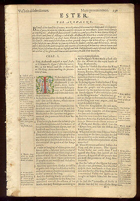 1569 Geneva 2nd Quarto Roman Letter Bible Leaves/RARE/COMPLETE BOOK OF ESTHER!