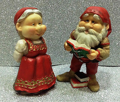 Fate Elfi Trolls Pixies Gnomi Gnomo Les Alpes Coppia In Resina Couple Of Dwarfs