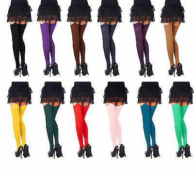 Opaque Stockings 40Denier Plain Top by Sentelegi,24Fashionable Colours,SizesS-XL