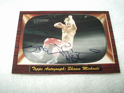 WWE Wrestling Autograph Card Shawn Michaels Heritage 2005