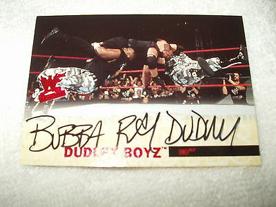 WWE Wrestling Autograph Card Bubba Ray Dudley 254/500 2001