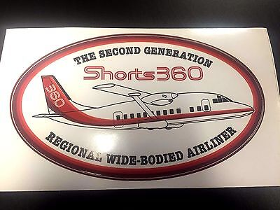 """Shorts 360 SD-3 SD-360 Airline Oval Pilot Decal Bag Sticker 3"""" x 5"""""""