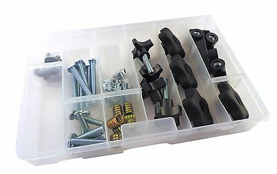 48 Piece Jig T Track Hardware Kit 1/4 20 Knobs, T Bolts, Inserts 48PJHK-1/4