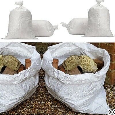 Woven HEAVY DUTY Rubble Sacks/bags Builders/Gardeners/Clearance 22 x 30""