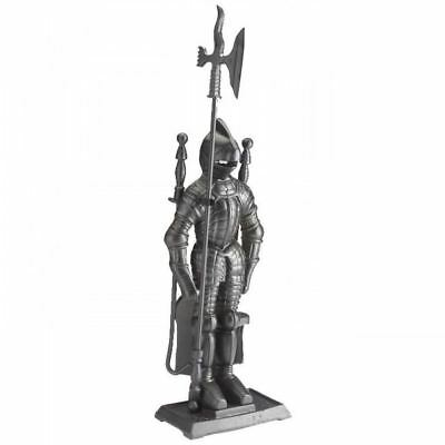 Black Fireside Companion Set Crafters Vintage Knight Soldier Royal Tools