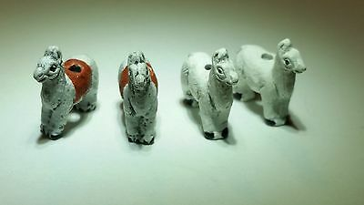 2 Mini Peruvian Ceramic Llama Earring Beads