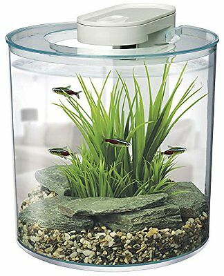 Marina 360 Aquarium 10L Pet Supplies Removable Cover Intergrated Filtration Sys