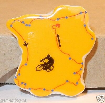 Tour De France 2015 Carte Officielle Velo Feve Porcelaine 2D