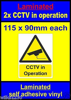 Security MISC2 Warning Safety Camera Closed Circuit TV CCTV in operation Sticker//Self Adhesive Sign