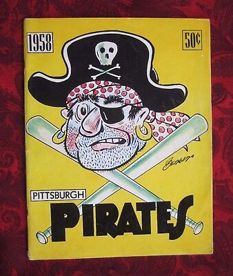 Vintage 1958 Pittsburgh Pirates Official Baseball Yearbook Clemente