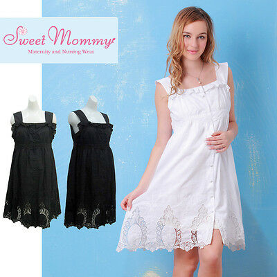 Vestito Premaman Allattamento Cotone Maternity Nursing Cotton Dress SO2134