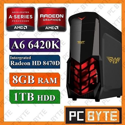 AMD 2 Core A6 6420K 4.2GHz 1TB 8GB RAM Radeon HD8470D Gaming Computer Desktop PC