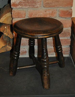 Antique English Elm Stool
