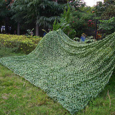 2Mx3M Green Army Camouflage Net Woodlands Leaves Camo Cover for Hunting Camping