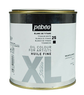 Pebeo Studio XL Oil Colour Paint LARGE 650ml Tin - Titanium White
