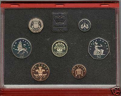 1991 Deluxe Red Proof Set Of 7 Coins