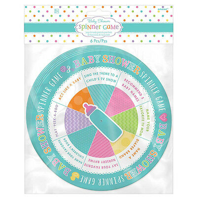 6 x Baby Shower Spinner Game Party Games Unisex Baby Shower Fun & Games